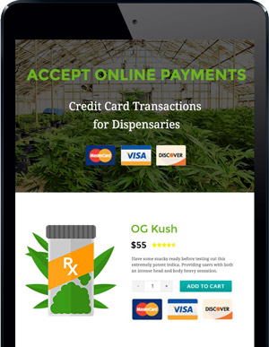 Accept Credit Card Payments Online at your MMJ Dispensary